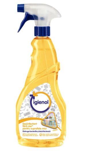 dezinfectant pentru suprafete mici lamaie 750 ml igienol
