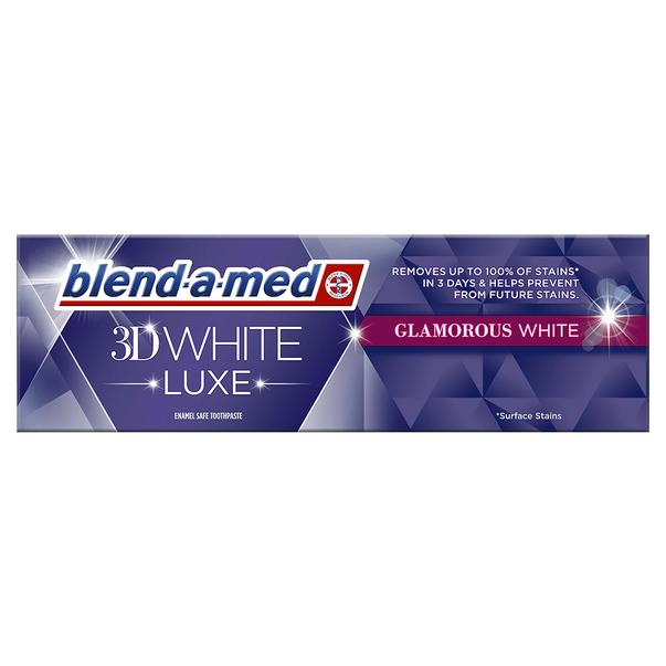pasta de dinti blend a med 3d white luxe glamorous white 75 ml 8923851948062