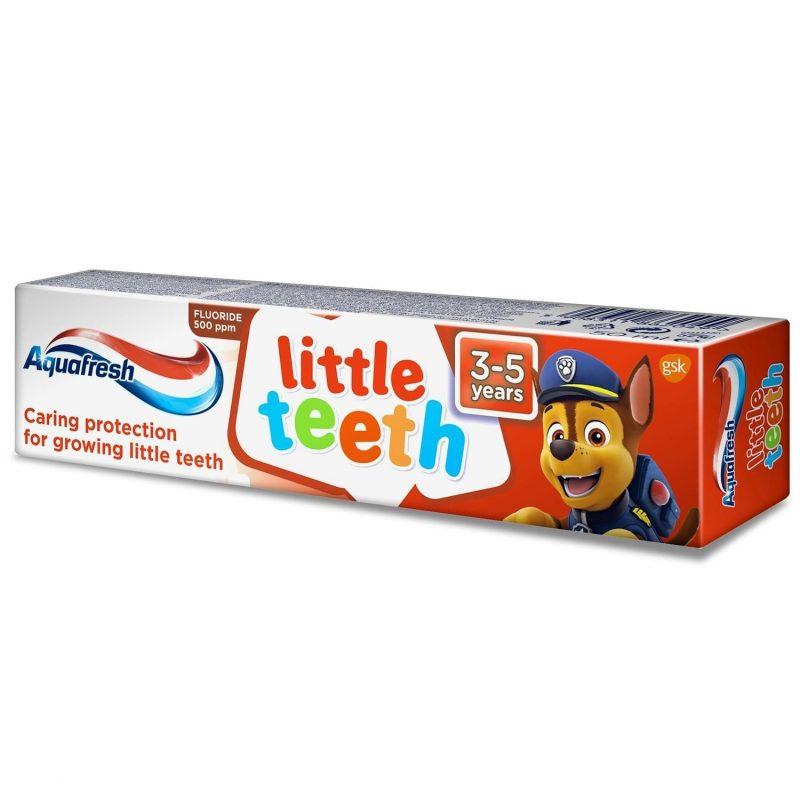 1bd4b03f 9d1e 43b4 b7a6 6e70859e849e i aquafresh little teeth psi patrol pasta do zebow dla dzieci 3 5 lat 50ml 1