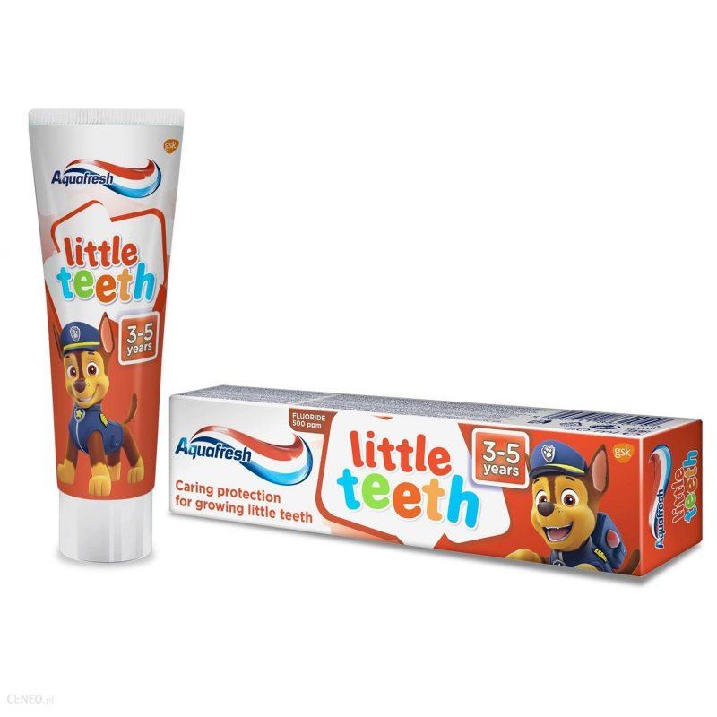 821970af ee0b 41fc 9d96 e7f40c8e5037 i aquafresh little teeth psi patrol pasta do zebow dla dzieci 3 5 lat 50ml