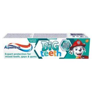 aquafresh my big teeth pasta do zebow dla dzieci 6 8 lat psi patrol 50 ml 16014567081