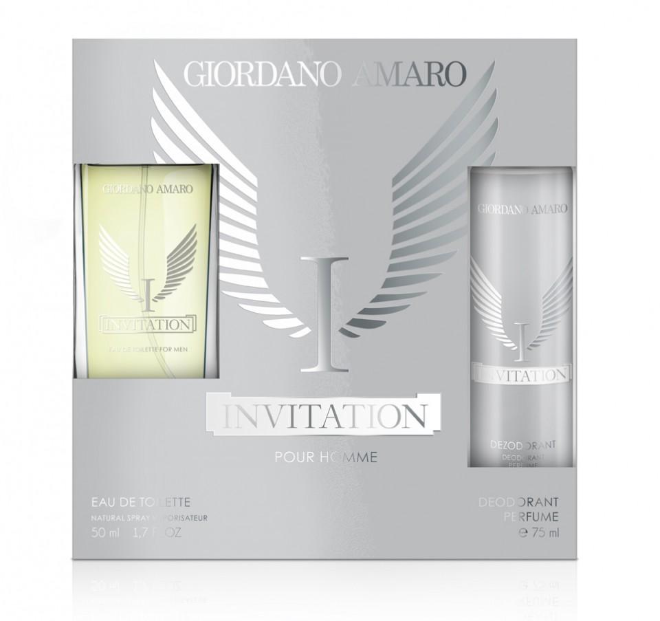 set cadou barbati giordano amaro invitation edt 50ml deo spray 75ml 1651