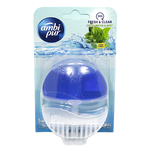 Ambi Pur Liquid Rim Block Fresh Water Mint 55ml No Banner