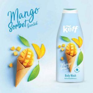 992546 Gel de dus Body Wash Ice Cream Mango Sorbet 500 ml Sano Keff1 217272