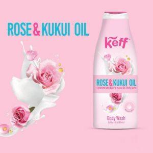 992584 Gel de dus Rose Kukui Oil 500 ml Keff1 217085